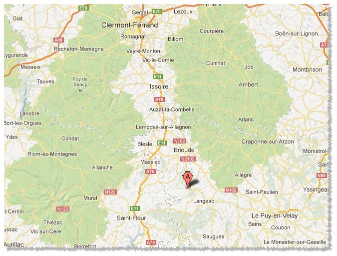 Lavoute-Chilhac - situation géographique